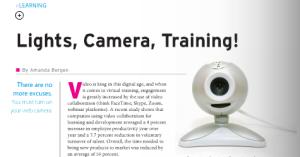 Lights, Camera, Training